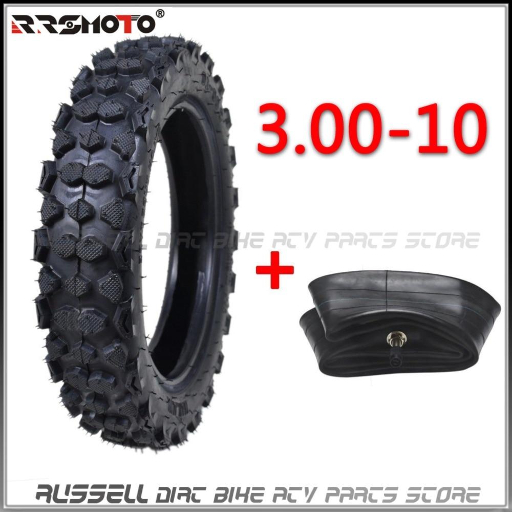 Neumático de 10 pulgadas y tubo antideslizante para Motocross, 3,00-10 pulgadas, moto de carreras, Dirt Bike Atomik SSR SDG GY6 Scooter 80/100-10