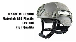 Image 3 - Qualität Leichte SCHNELLE Helm MICH2000 Airsoft MH Taktische Helm Freien Taktische Painball CS SWAT Reiten Schützen Ausrüstung