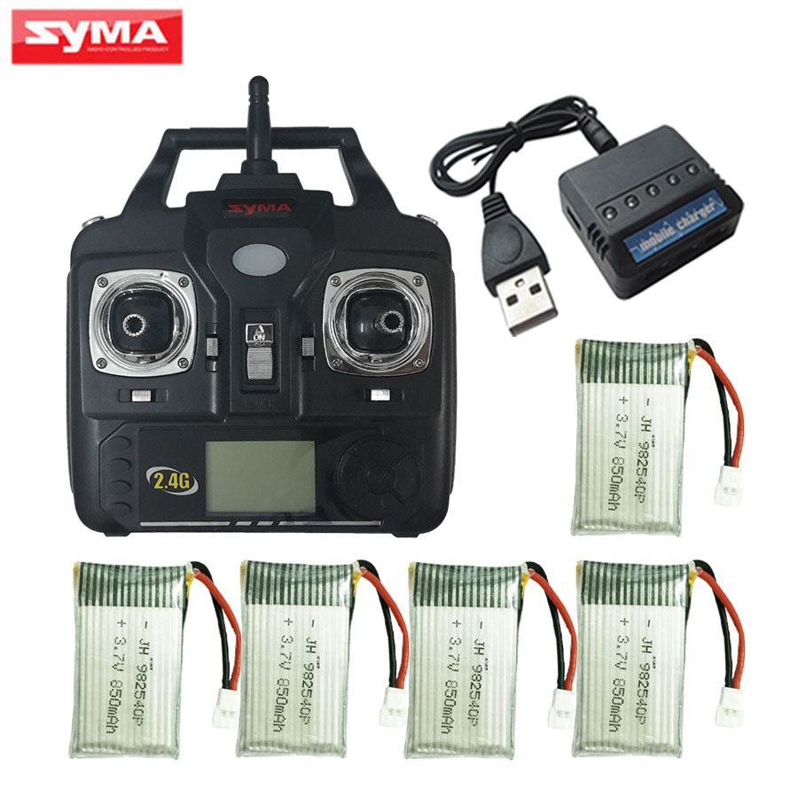 SYMA Set High Mode Transmitter and 850mAh Battery For X5HC X5HW Spare Parts Helicopters X5C X5SW X5SC Drone Remote Control Parts