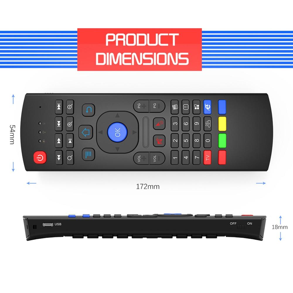 Aire Mouse2.4g Usb Inalámbrico Ratón Volador Control Remoto Nfrared Ajuste Multifuncional Mini Teclado Para Smart Tv Para Samsung Lg