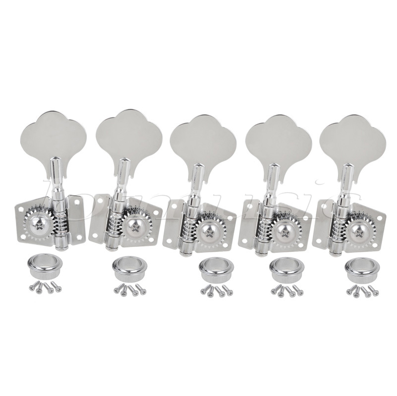 buy kmise chrome 5 string bass tuning pegs machine heads bass tuners 4r1l from. Black Bedroom Furniture Sets. Home Design Ideas