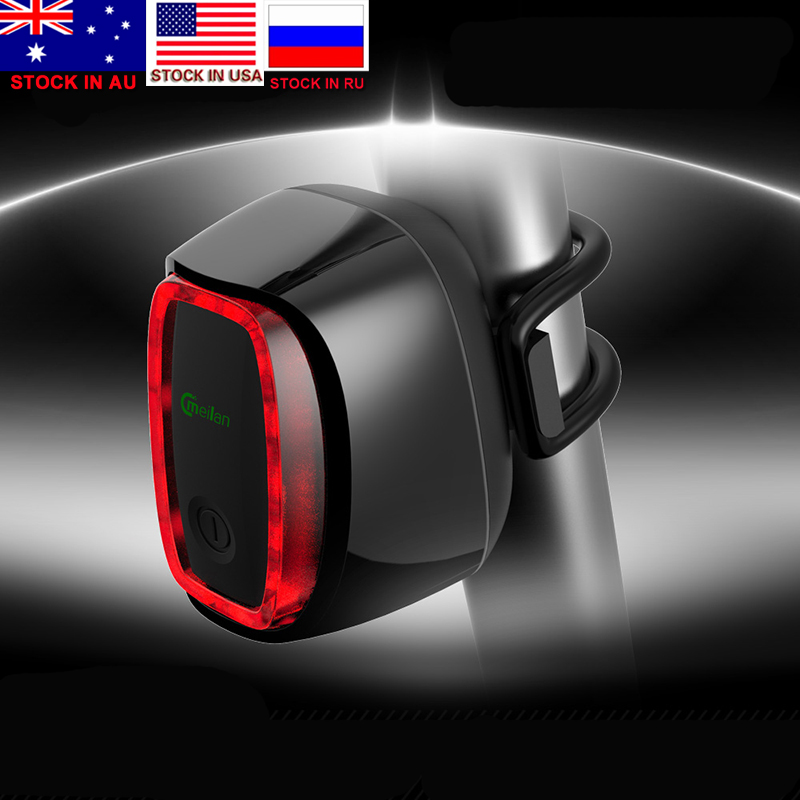 ZK20 Dropshipping X6 Bicycle Rear Taillight USB Rechargeable Waterproof Bike Safety Lamp Intelligent Cycling Lamp 7 Modes