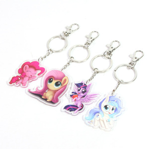 Image 3 - ใหม่ 5.5 cm My Little Pony ของเล่น Charm Twilight Sparkle Dash สายรุ้ง Fluttershy จี้ Key ผู้ถือ Pony พวงกุญแจ Party Supplies