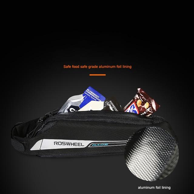 Roswheel Race Series 121343 sac de selle pour vélo de route, vélo, siège arrière sac Tube supérieur sac cadre avant sac Triangle sac à main