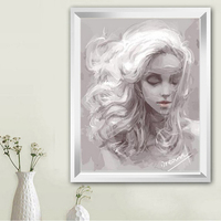 Dream Girl Coloring By Numbers 40 50cm Paintings By Numbers Diy Oil Painting On Canvas Pictures