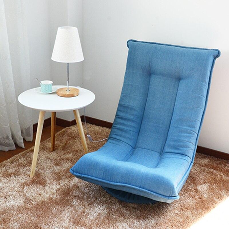 Floor Seating Furniture 360 Swivel Chair Living Room Sofa Foldable Chaise  Lounge Lazy Zaisu Chair Modern Ergonomic Design