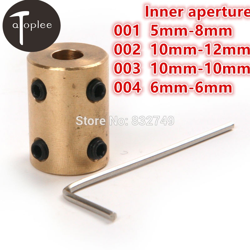 1PC 5-8mm/10-12mm/10-10mm/6-6mm RC Airplane Model Motor Jaw Copper Shaft Coupling Brass Coupler Rigid Motor Connector Screw Tool motor shaft joint coupling brass coupler shank connector transmission 3 17mm to 2 3 4 5mm rc airplane car model hobby power tool