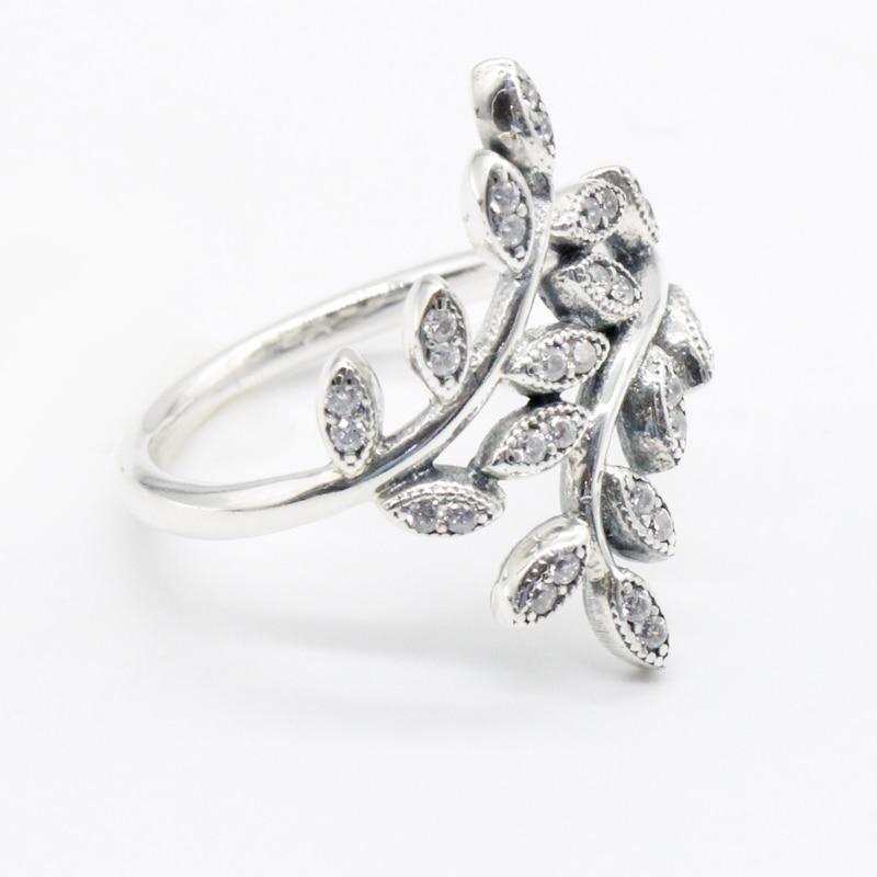 925 Sterling Silber Funkelnde Blätter Silber Ring Mit Cubic Zicron Romantische Frauen Dame Mädchen Party Ring Hochzeit Bands Schmuck