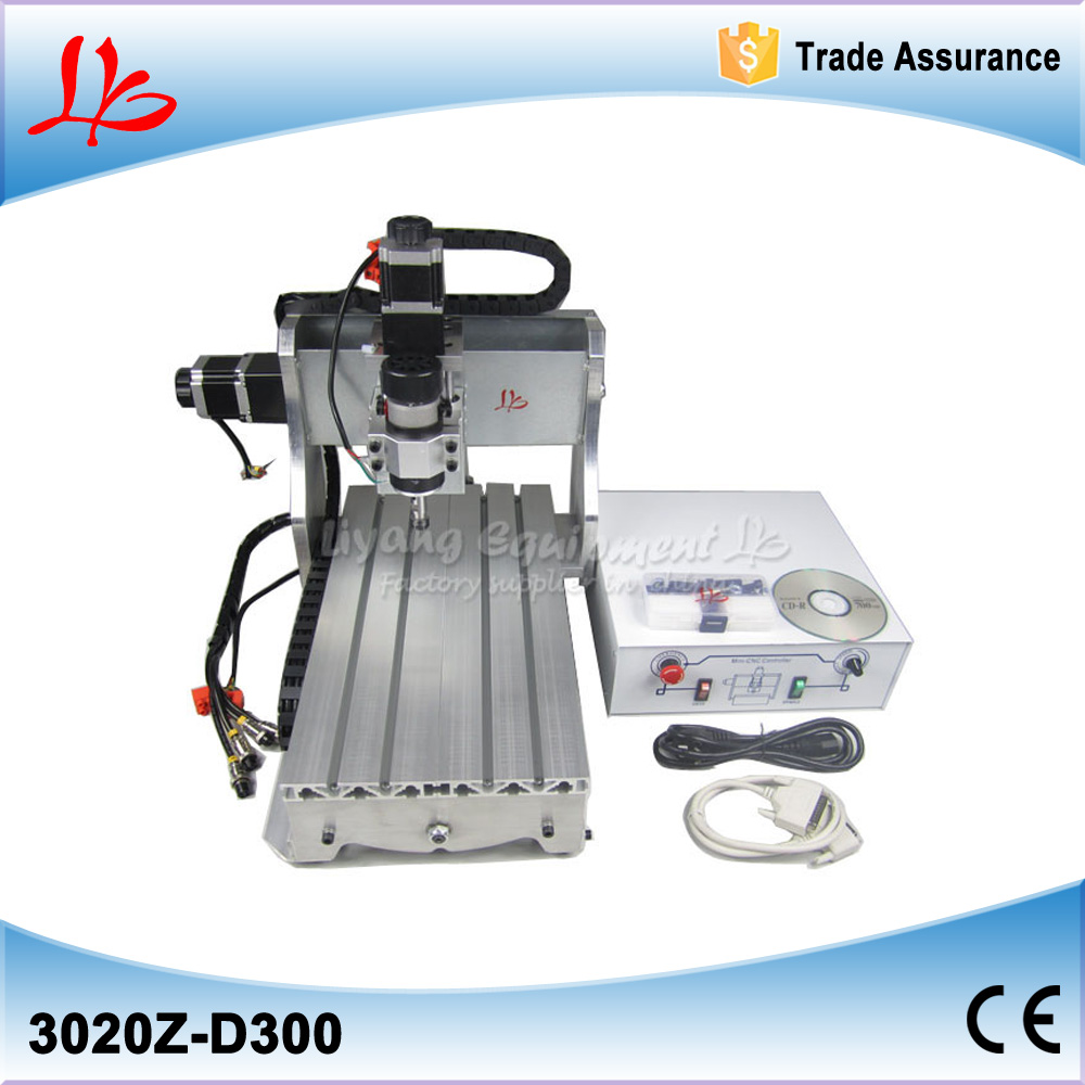 No tax, mini desktop cnc milling/engraving machine CNC 3020Z-D300 with ball screw and 300W spindle no tax to russia cnc6040z usb 4axis engraving machine with mach3 remote control with 1 5kw spindle and ball screw