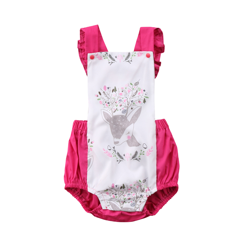 New Fashion Newborn Infant Baby Girl Romper Floral Backless Romper Jumpsuit Outfits Clothes Summer
