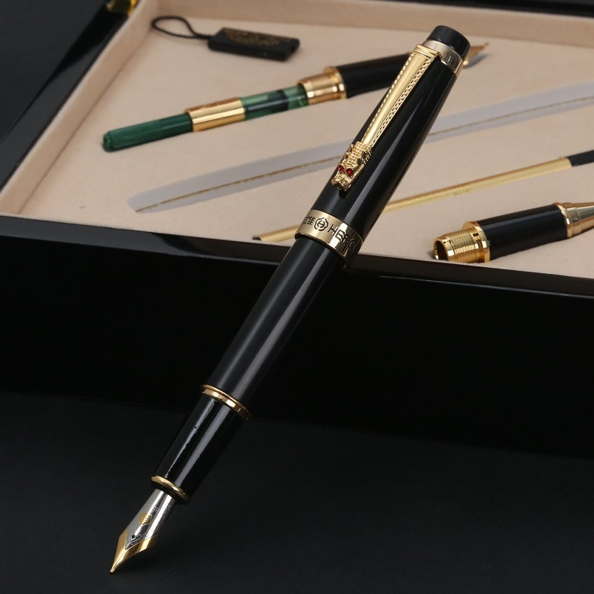 Luxury Hero 1111 Iraurita Fountain Pen Rollerball Calligraphy Pens High End Unique Pens Wooden Box Office Gift Free Shipping duke 318 art nib fountain pen 0 8mm 1 0mm writing point calligraphy pen iraurita writing pens with an original box free shipping