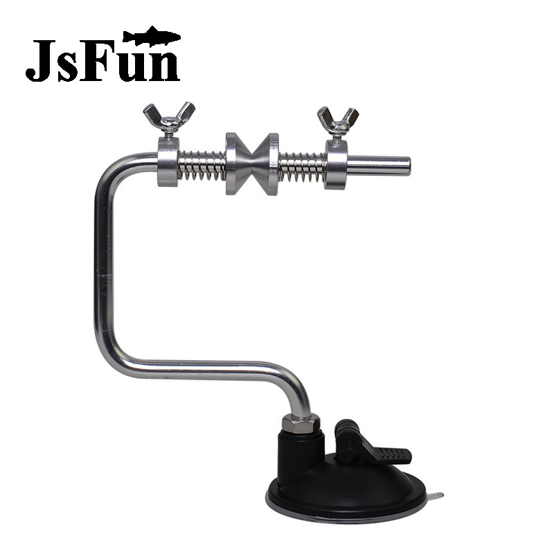 JSFUN Portable Aluminum Fishing Line Winder Reel With Vacuum Grip Device 120g Spooler System Fishing Tackle Accessories FO184