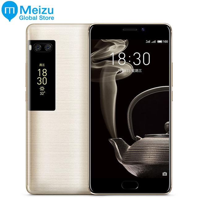 """Оригинал Meizu Pro 7 плюс 6 ГБ 64/128 ГБ 4 г LTE MTK helio X30 Дека Core 5.7 """"Экран двойной сзади Быстрая зарядка сотового телефона двойной Экран"""