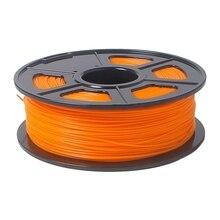 PLA 3D расходные материалы 1 кг/2.2lb 1.75 мм пункт Мендель Orange