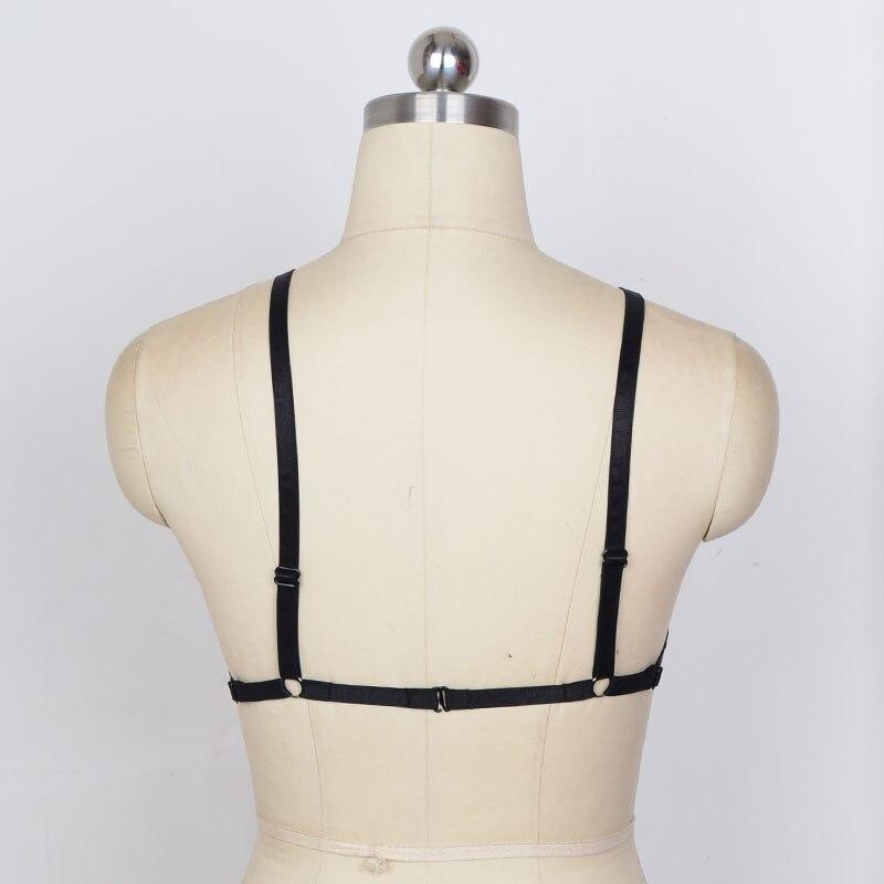 Черные сексуальные подвязки для женской груди в готическом стиле, стиле для танцев на шесте