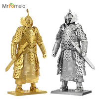 MrPomelo Kids Adult Toys 3D Construction Figures Model Puzzle General Samurai Warriors Armor For Children Tangram