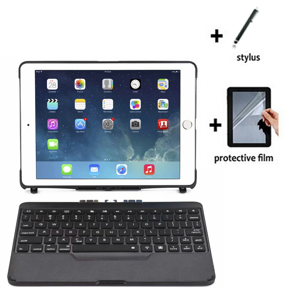 """3in1 Removable Bluetooth Wireless Keyboard Stand Case Cover +1x Film +1x Stylus For Apple iPad Air 9.7 5 6 7 8 2017 2018 9.7"""""""