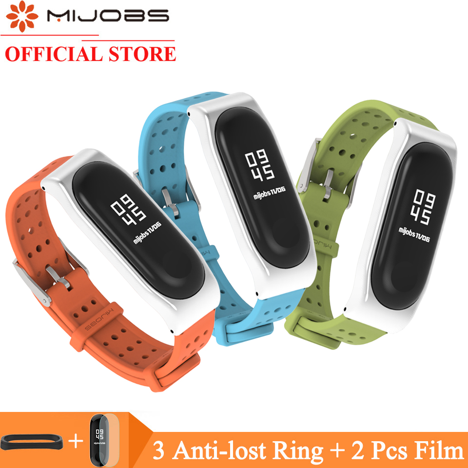 Mijobs Silicone Strap For Xiaomi Mi Band 4 3 Watchband Bracelet For Xiaomi Miband 3 Wristband Smart Watch Strap Mi Band 4 Strap