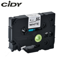 CIDY compatible for brother 6mm tze laminated tape tze211 tze 211 tze-211 tz211 tz-211 for brother label maker printer ribbon
