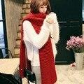 Outono e inverno das mulheres de lã cachecóis unisex casal Coreano grossas de inverno quente malha estudante Bandana lenço de Toalha Redonda
