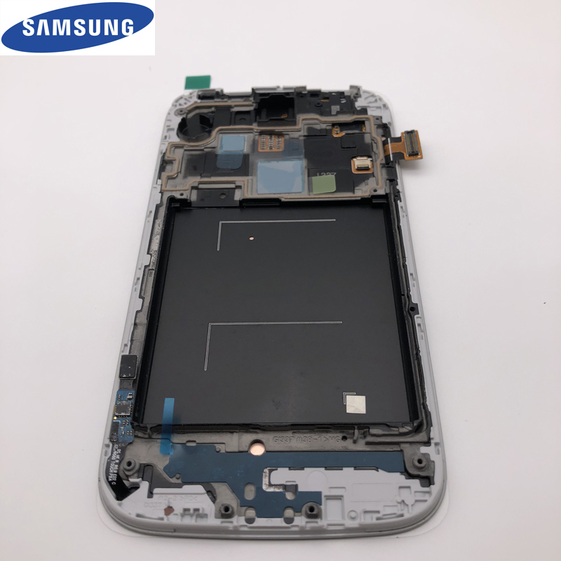 ORIGINAL 5,0 ''AMOLED LCD Display Touchscreen Digitizer für SAMSUNG Galaxy S4 LCD Mit Rahmen GT-i9505 i9500 i9505 i9506 i337