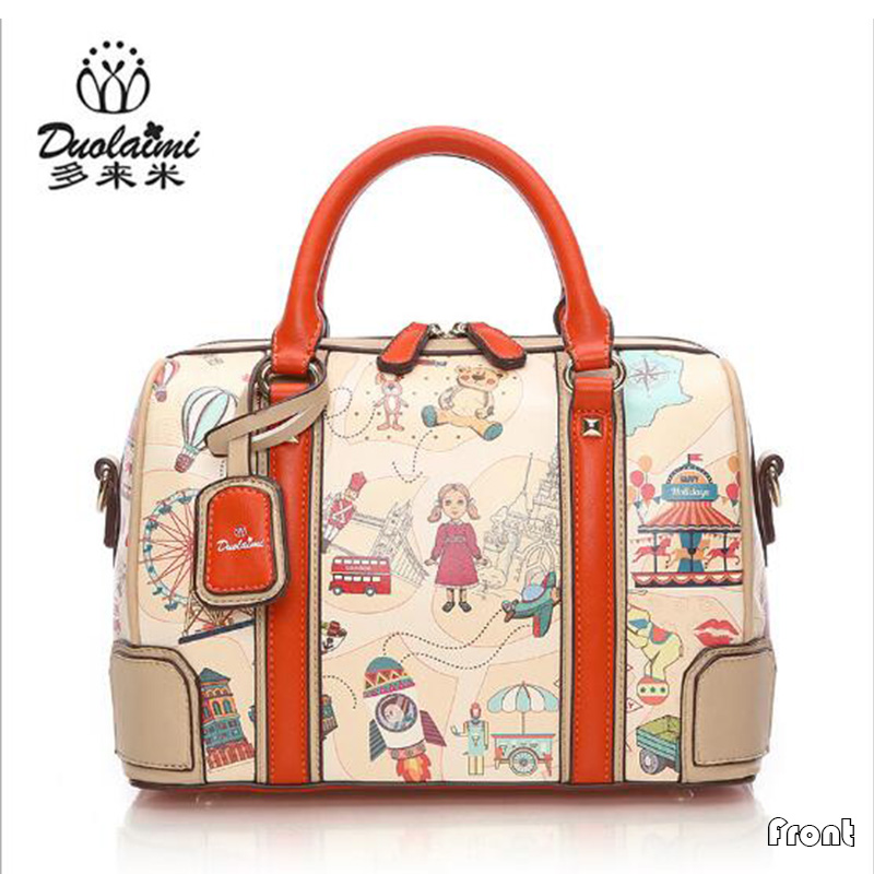 ФОТО New Arrival Women Bag Casual Travel Women Messenger Bags Fashion Cartoon Printing Women's Handbags Pillow Bag Ladies Totes Bags