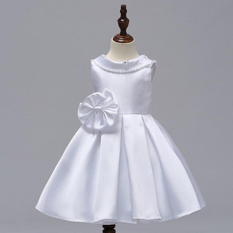 Lovable A-line Backless Bow   Flower     Girls     Dresses   For Weddings Satin Little   Girls     Dresses   GOWNS 2018