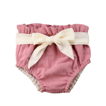 Large Bow Summer Cotton Baby Girl Shorts