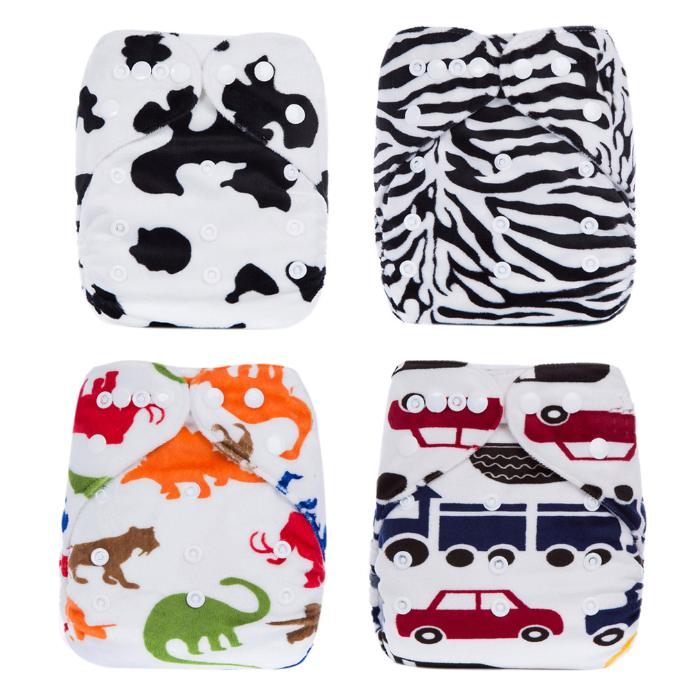 Reusable Waterproof 1pcs Cloth Diaper font b Nappy b font PUL Breathable Double Row Snaps Soft