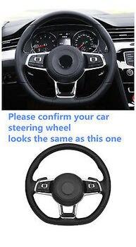 Siyah DSG Paddle Vites Değiştiriciler Yarış Yedek VW Golf Mk7 GTI R 14-18