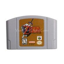 Nintendo N64 видеоигры картридж Консоли Карты Легенда о Zelda Окарины времени Английская литература США Версия