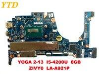 Оригинальный Для lenovo yoga 2 13 yoga 2 13 материнская плата для ноутбука yoga 2 13 I5 4200U 8 ГБ ZIVY0 LA A921P testedgood Бесплатная доставка