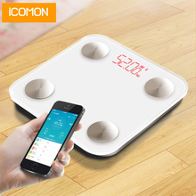 iCOMON Digital Body Scale Floor Electronic Smart Bathroom Weighing Scale Bluetooth Human Weight Fat Scale bmi Balance все цены