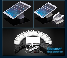 цена на 10 Ports Mobile Phone Tablet PC Anti Theft Burglar Device Phone Alarm Charging Security Display Stand Mobile Phone Security Box