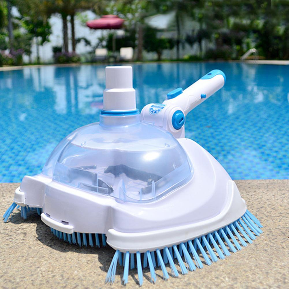 Aspirateur de piscine tête d'aspiration transparente Machine d'aspiration manuelle tête d'aspiration outil de nettoyage et d'entretien