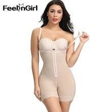 Feelingirl faixa de colômbia para mulheres, pós cirurgia magro, modelador do corpo, levantador de bumbum, cinto de modelagem