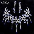 Regalos de La Promoción de Cristal austriaco Rodio Plateado Joyería Nupcial Traje de Las Mujeres Rhinestone de La Manera Joyería De La Boda Africana