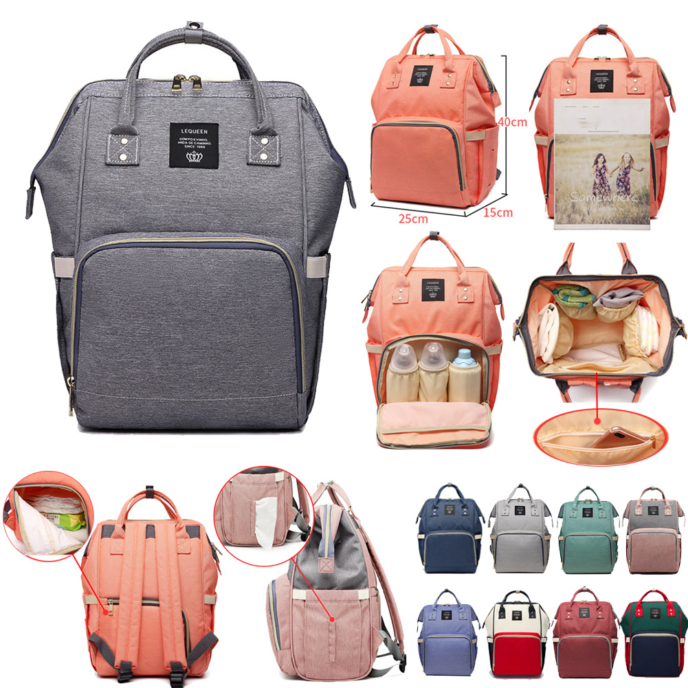 LEQUEEN Diaper Bags Nappy Backpacks Bags Mummy Large Mom Baby Multi-function Waterproof Outdoor Travel Diaper Bags For Baby Care