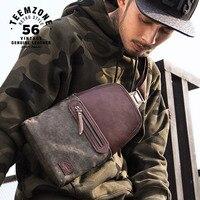 Famous Brand Artificial Leather Mens Chest Bags Fashion Travel Crossbody Bag Zipper Man Messenger Bag Waterproof