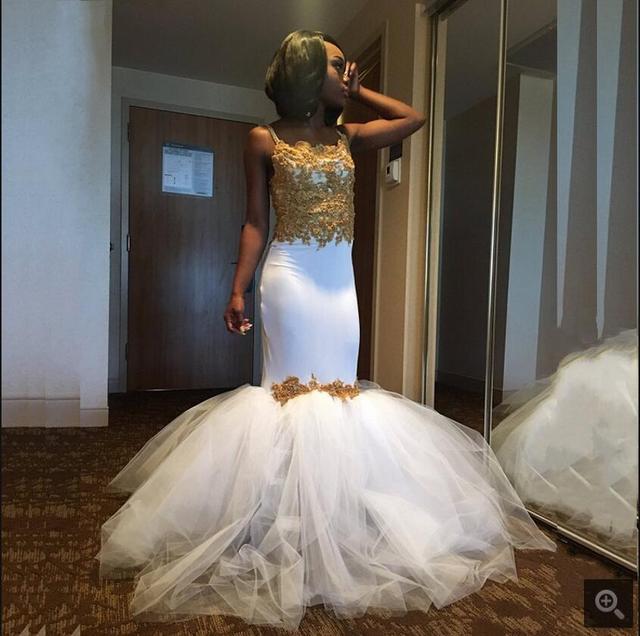 440bd2b1480c 2017 new white spandex spaghetti straps lace mermaid wedding dress  sweetheart neck gold appliques beaded wedding dresses