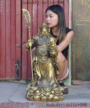 christmas Chinese Brass Wealth treasure bowl Dragon Guan Gong GuanYu warrior god Statue цена и фото