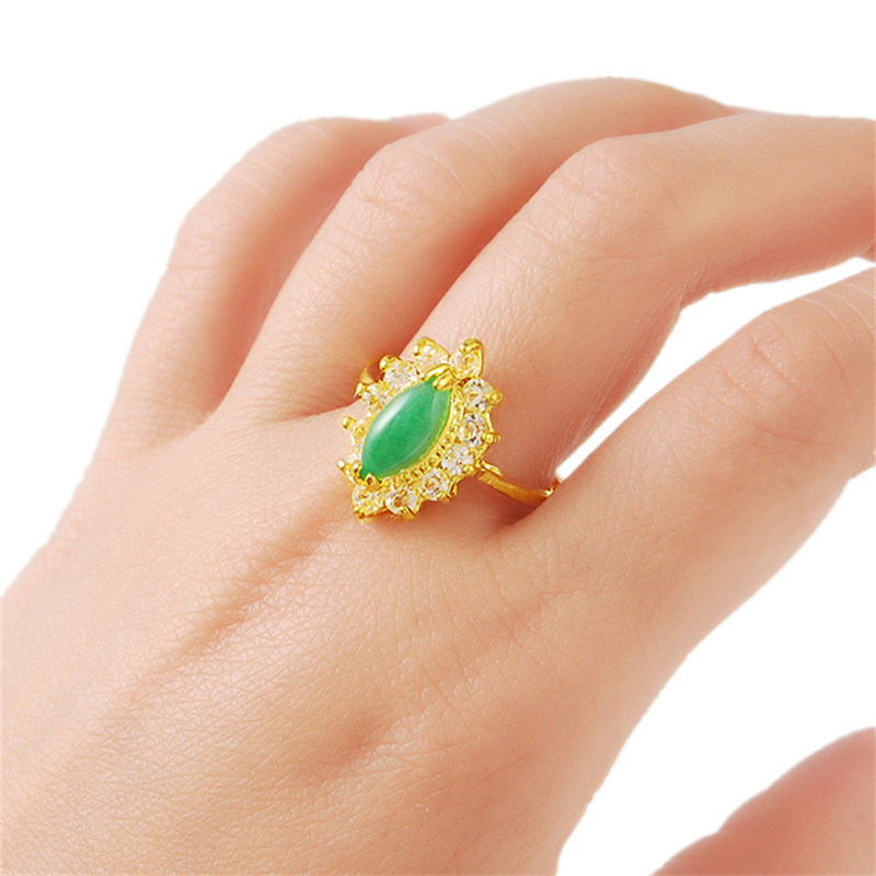 Luxury Brand New Gold Color Geometric Rings For Women Trendy <font><b>Crystal</b></font> Ring Jewelry Female Finger Ring Size 5 6 7 8 9 10 image