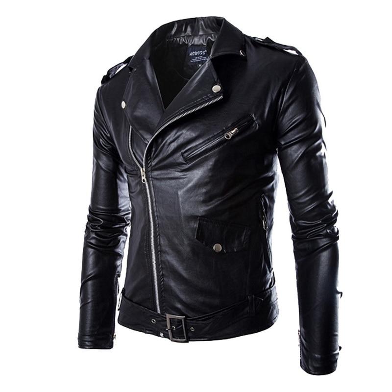 Men Fashion Motorcycle Leather Jacket