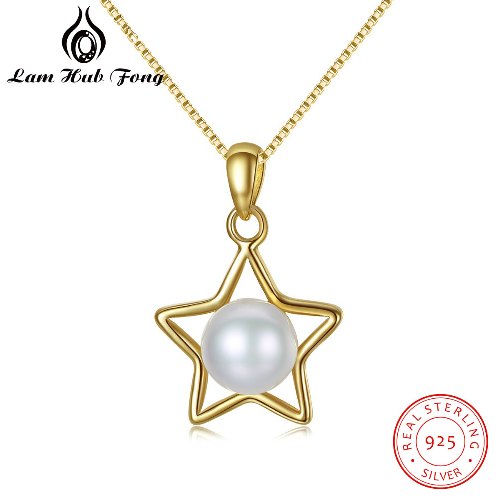 2018 18K Gold Color 925 Sterling Silver Chic Pendant Necklace