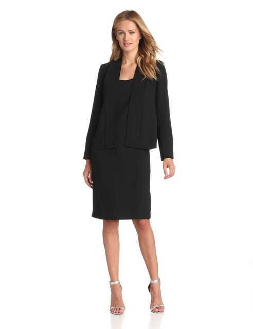 Dress Suit for Ladies Wear To Work Women s Suits with Dress and Blazer Sets  Slim Long e0c5dbbea615