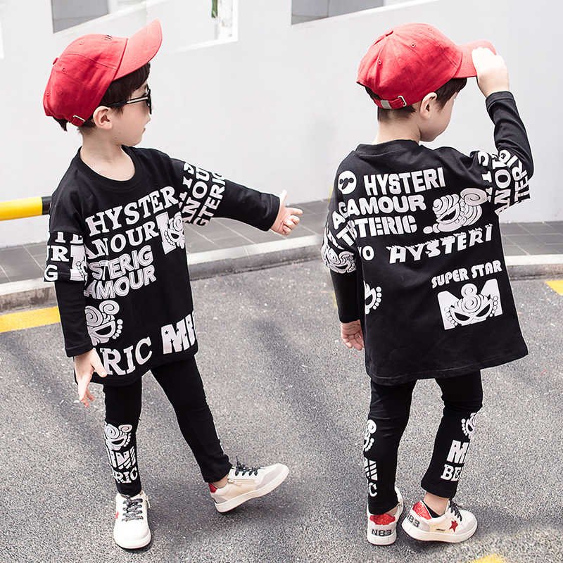 d4708a1f0 Boys clothes 2019 autumn kids clothing sets full sleeve sweatshirt and  pants children outfit sport suits