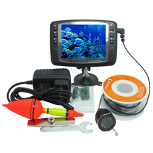 15 Meters Depth Fish Finder with Floating Assembly & 600TVL Underwater Camera & 3.5″ Digital LCD Monitor Support 11 Languages