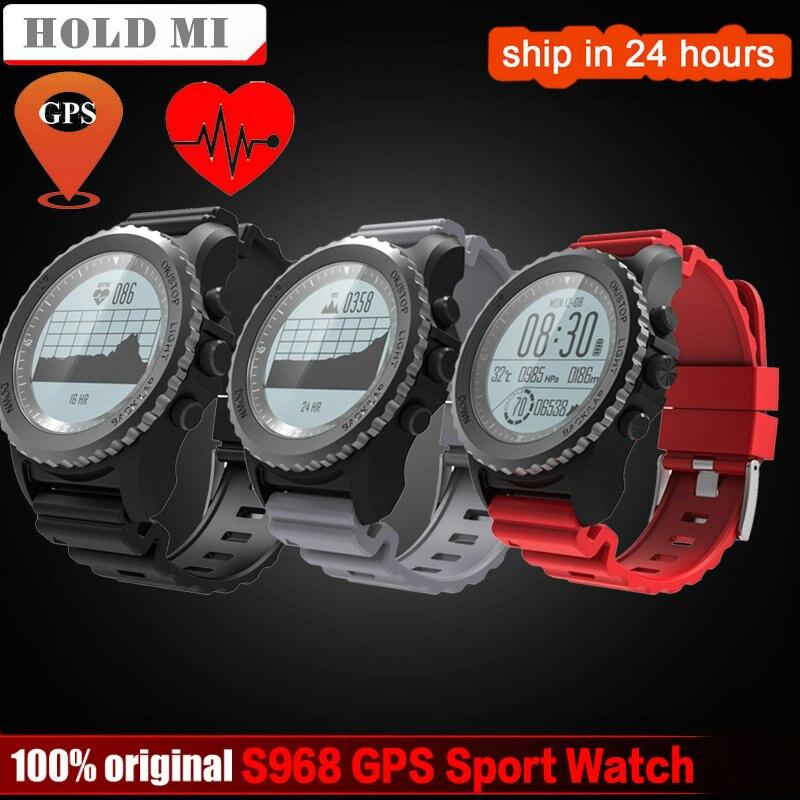 Удерживайте Ми S968 gps Спорт Смарт часы Водонепроницаемый сна монитор сердечного ритма термометр альтиметр шагомер gps Smartwatch Для мужчин