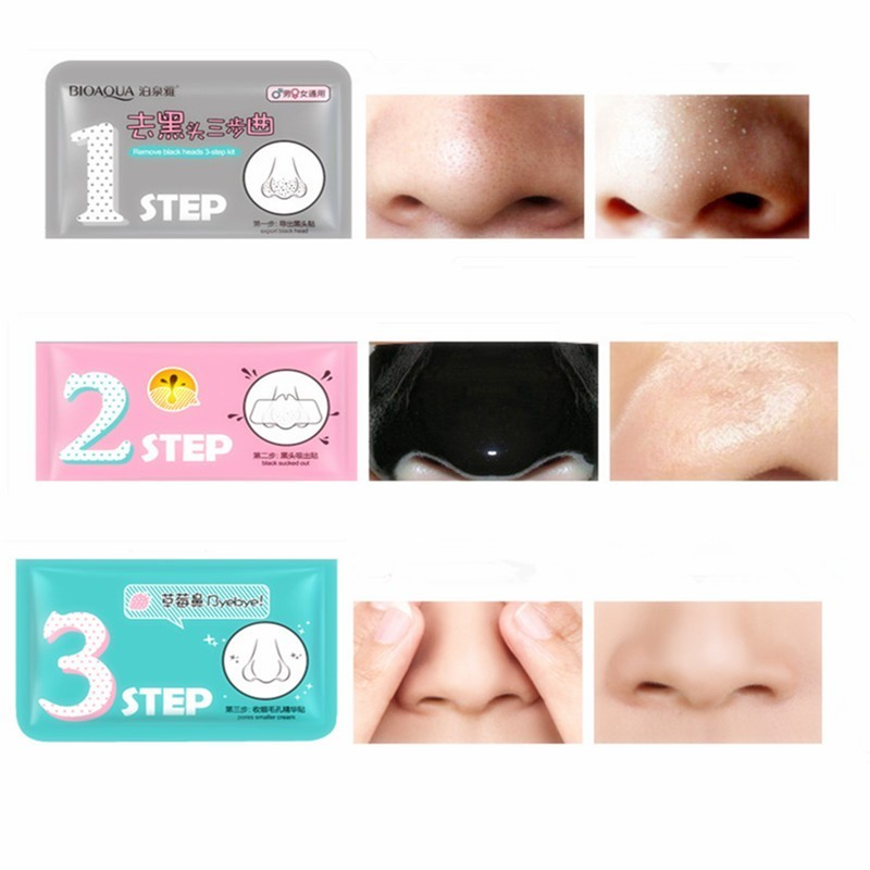 10- Pcs/Lot Pig Nose Mask Remove Blackhead Acne Remover Clear Black Head 3 Step Kit Beauty Clean Cosmetic Accessory Face Care 16