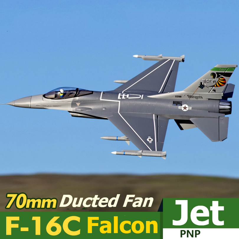 FMS RC Airplane 70mm F16 F 16C Fighting Falcon V2 Ducted Fan EDF Jet Scale Model